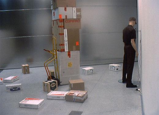 Deliveries in the Rear Tiroler Sparkasse, 2001